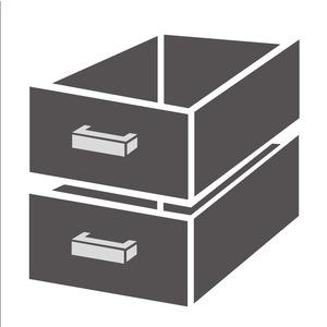 Ladenblok Combisteel 1/2 monoblock soft closing