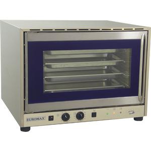 Heteluchtoven Euromax, 10916PBH, met stoominjectie en turbo reverse ventilator, GN 1/1, EN 600 x 400 mm, draaideur, 400 V