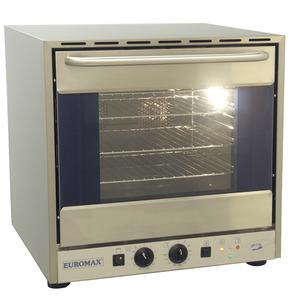 Heteluchtoven Euromax, 10990GHBL, met grill en stoominjectie, GN 2/3, valdeur