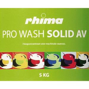 Pro Wash Solid AV, vaatwasmiddel Rhima voor doorschuifmachine en pannenwasmachine