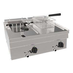 Friteuse, NordCap EF6 / 2B8LT, tafelmodel, 2 x 8 liter