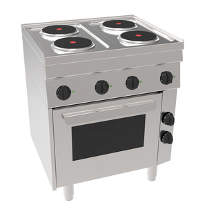 Fornuis, NordCap EH6 / 4KPBO, 4 x 2 kW, oven , 400 V