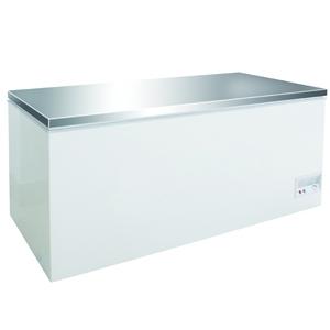 Vrieskist Combisteel, wit, RVS-deksel, 768 liter