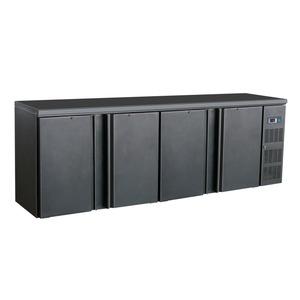 Barcooler Combisteel, 4 deuren, zwart
