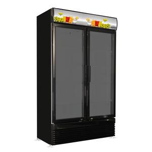 Koelkast Combisteel BEZ-780 GD 2 Glasdeuren Zwart