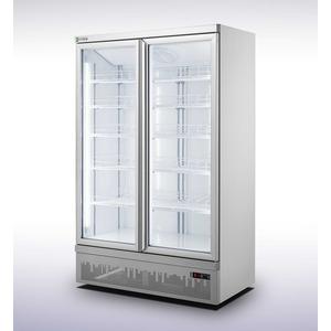 Koelkast Combisteel JDE-1000R, 2 glasdeuren, wit