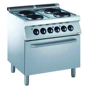 Fornuis, Combisteel, 4 x 2,6 kW, oven 6 kW, 400 V