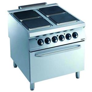 Fornuis, Combisteel, 4 x 4 kW, oven 6 kW, 400 V