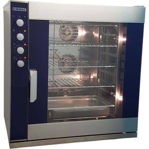 Steam oven Euromax, 9810PBH-BR, met stoominjectie en turbo reverse ventilatoren, 10 niveaus x EN 600 x 400 mm, 380 Volt