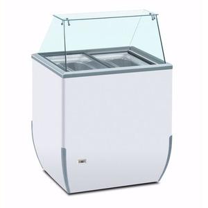 Schepijsvitrine Framec, Brio Ice 4 SK, statische koeling, 4 x 5-liter bakken