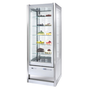 Panorama koelvitrine NordCap, Cristal Tower 925 RV/TN, 5 glazen etages