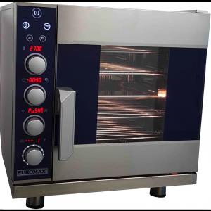 Digitale steam oven Euromax, D9523PBH, met stoominjectie, turbo reverse ventilator en autoclean systeem, 5 niveaus x GN 2/3, 230 Volt