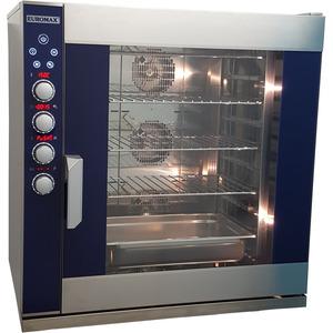 Digitale steam oven Euromax, D9810PBH-BR, met stoominjectie en turbo reverse ventilatoren, 10 niveaus x EN 600 x 400 mm, 380 Volt