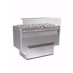 Schepijsvitrine Framec, Dolce Vita 10 Lux, statische koeling, 10 x 7,5-liter bakken