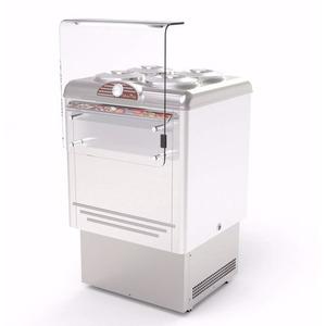 Schepijsvitrine Framec, Dolce Vita 4 Lux, statische koeling, 4 x 7,5-liter bakken