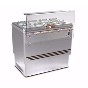 Schepijsvitrine Framec, Dolce Vita 8 Lux, statische koeling, 8 x 7,5-liter bakken