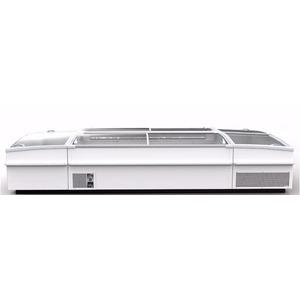 Koel- en vrieskist Framec, Domino Smart Lux 200 kopmeubel, statische koeling, glazen schuifdeksels