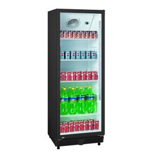Glasdeur koelkast Exquisit  ELDC 350 XL, zwart