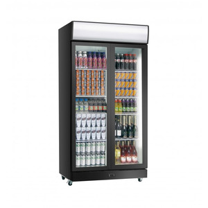 Koelkast Exquisit  ELDC 800 HD, dubbele glazen deur, 800 Liter, zwart