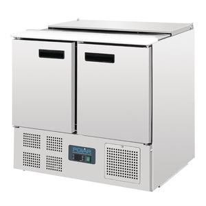 Saladette Polar, 2 deuren, 240 liter, GN  1/1 + GN 1/4