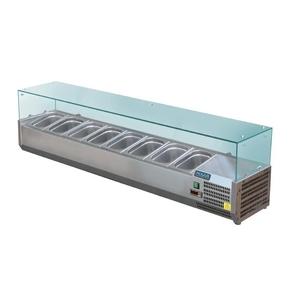 Opzetkoelvitrine Polar 8 x GN 1/3, 100 mm