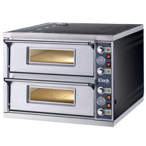 Pizzaoven Moretti, iDeck, PD 60.60, dubbele oven, pizza's Ø 30 cm