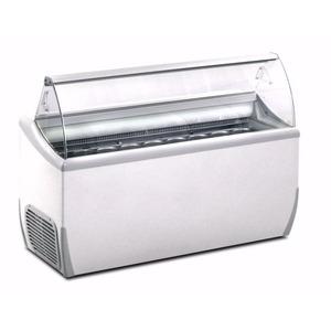 Schepijsvitrine Framec, J 9 Extra, statische koeling, 9 x 5-liter bakken