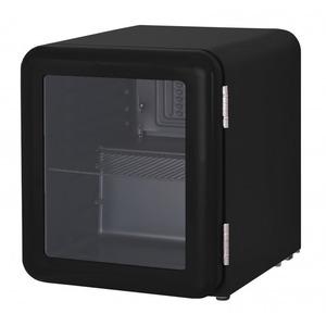 Barkoeler Exquisit KB50-RETROBLACK, glasdeur, zwart
