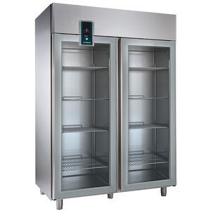 Koelkast NordCap, KU 1402-G Premium, GN 2/1, dubbele glasdeuren