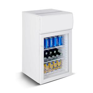 Mini koelkast Combisteel, glasdeur, 50 liter, statische koeling