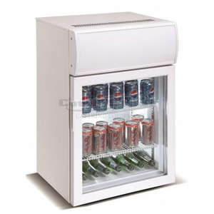 Mini koelkast Combisteel, glasdeur, 75 liter, statische koeling