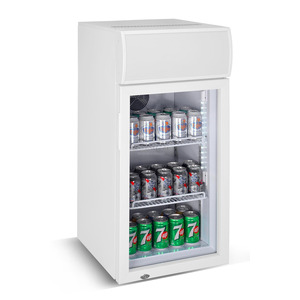 Mini koelkast, Combisteel, glasdeur, 80 liter, statische koeling