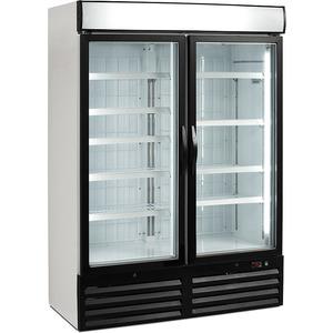 Diepvrieskast NordCap, TKU 980 G-LED, circulatiekoeling, glazen deuren, reclamedisplay