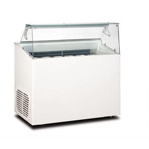 Schepijsvitrine Framec, Top 6 J, statische koeling, 6 x 5-liter bakken