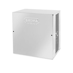 IJsblokjesmachine Brema, VM 900, 400 kilo/dag, pyramidevormige ijsblokjes, waterkoeling