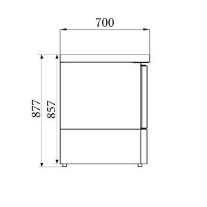 Saladette Combisteel, 1 deur, GN 1/1