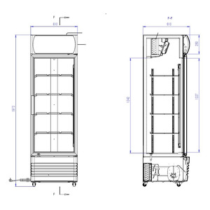 Koelkast Combisteel FCU-370 Glasdeur