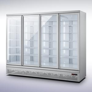 Koelkast Combisteel JDE-2025R, 4 glasdeuren, wit