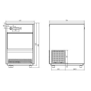 IJsblokjesmachine Combisteel VDB-26 26Kg/24H