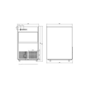 IJsblokjesmachine Combisteel VDB-50 50Kg/24H