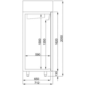 Koelkast Combisteel, 1200 liter, RVS