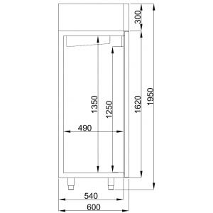 Koelkast Combisteel, 400 liter, RVS