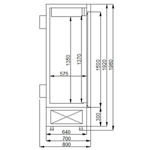 Dry age koelkast Combisteel 600l