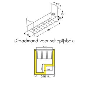 Vrieskist Liebherr, GTE 1700, aluminium deksel
