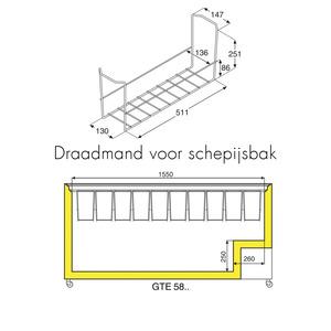 Vrieskist Liebherr, GTE 5800, aluminium deksel