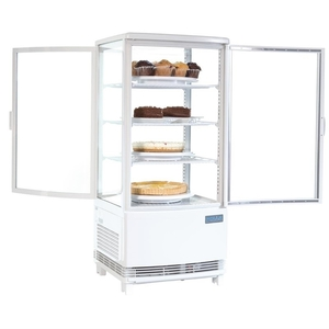 Koelvitrine, Polar, gebogen glasdeuren, 86 liter