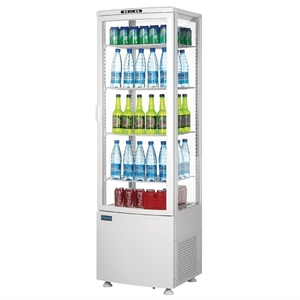 Koelvitrine, Polar, gebogen glasdeur, 235 liter