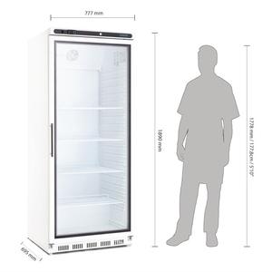 Koelkast, Polar, glasdeur, 600 liter, GN 2/1