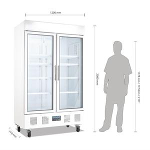 Koelkast, Polar, 2 glazen deuren, 944 liter