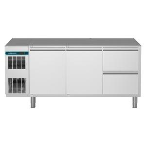 Koelwerkbank NordCap, CLM 650 3-7011, 2 deuren, 2 x 1/2 lades